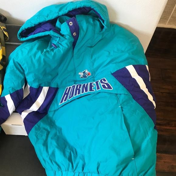 Mitchell /& Ness Charlotte Hornets Half Zip Anorak Jacke